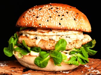Chicken blue cheese burger